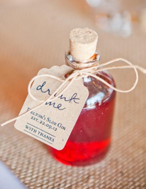 Miniature 50ml Glass Mini Spirit Bottles For Wedding